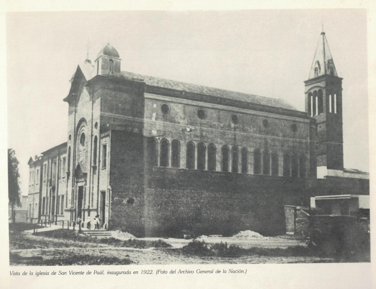 San Viente de Paul inaugurado en 1922. Foto del Archivo General de la Nación07092019.jpg