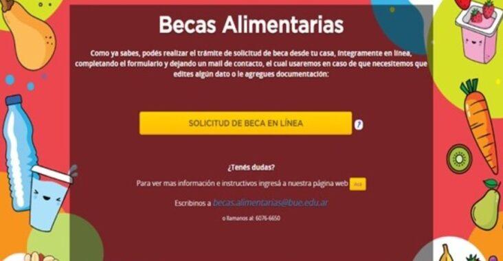 Beca Alimentaria Escolar para el ciclo lectivo 2021